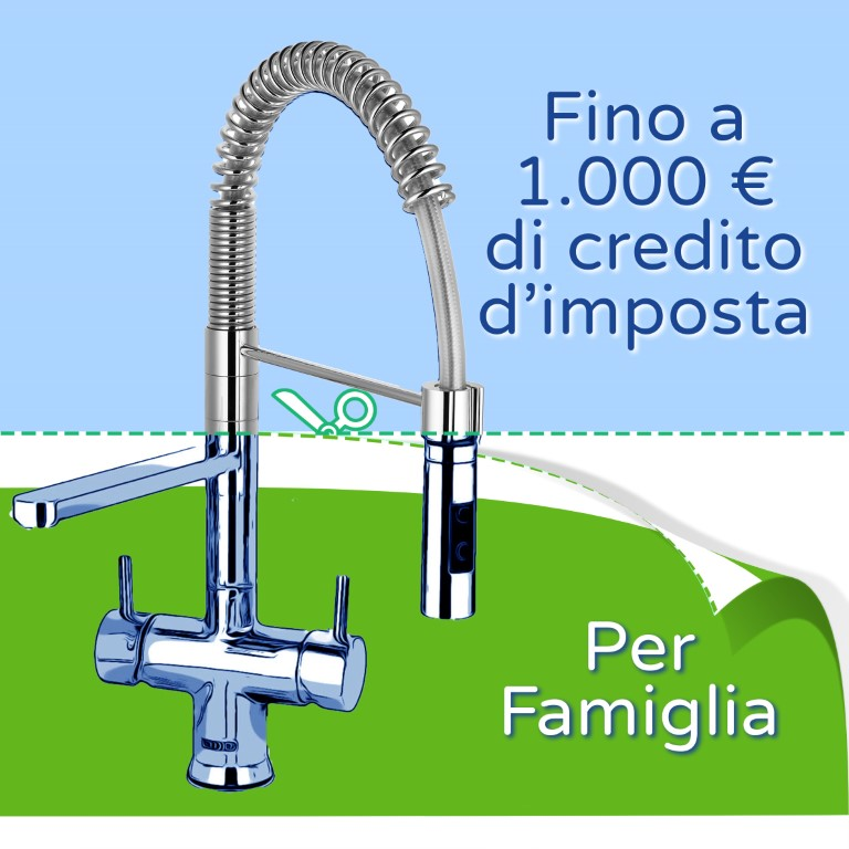 bonus fiscale erogatore acqua per privati