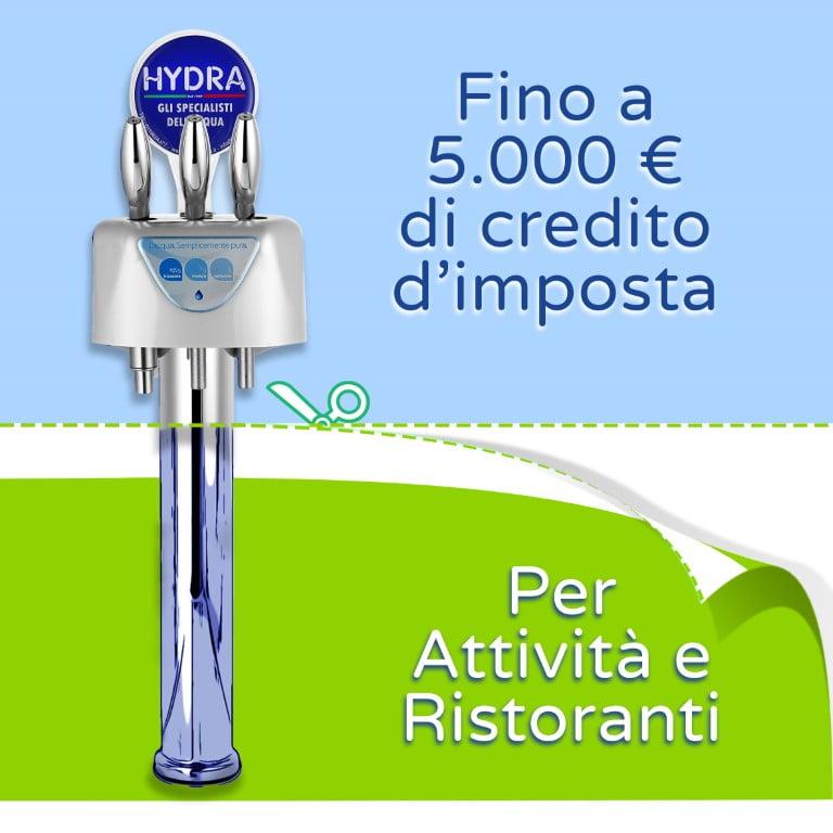 Incentivi fiscali depuratori acqua per attività e ristoranti
